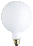 "25G40/WHT/130V/2M 25 WATT G40 5"" WHITE GLOBE E26 BASE, 25G40/4MW, 25G40/W, 25 WATT G40 5"" WHITE GLOBE MEDIUM BASE 130 VOLT"