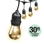 Feit Electric – 72041 20 Foot String Light- 20 Foot 10 Socket String Light