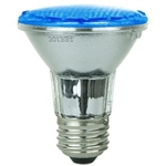 Sunlite 80001-SU PAR20/LED/3W/B, - 3 Watt Blue LED PAR20 Flood Medium Base, 30,000 Hour, 80001,#80001,80001-SU,#80001-SU
