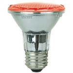 Sunlite 80003-SU PAR20/LED/2W/R - 2 Watt Red LED PAR20 Flood Medium Base, 30,000 Hour, 80003,#80003,80003-SU,#80003-SU