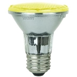 Sunlite 80005-SU PAR20/LED/3W/Y, 3 Watt Yellow LED PAR20 Flood Medium Base, 30,000 Hour, 80005,#80005,80005-SU,#80005-SU