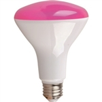 LED BR30 8W Pink DIMMABLE E26 ProLED, 8 Watt Pink LED Flood, 8 Watt Pink LED Cosmetic flood, Eiko#09092,Halco #80988, Dimmable LED Pink Flood, Pink LED Cosmetic Flood