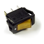 Grote 82-1902 3 Blade Illuminated Rocker Switch, 20 Amp Yellow, PICO #9413711, 9413BP, Grote#82-1902