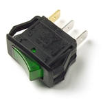 Grote 82-1903 3 Blade Illuminated Rocker Switch, 20 Amp Green,Peterson# PMV5583PT, PICO# 9413311, 94133BP, Grote#82-1903