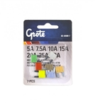 Grote 82-ANM-7 MINI®/ATM Blade Fuse Kit, 7 Pack, 82-ANM-5A, 82-ANM-7.5A, 82-ANM-10A, 82-ANM-15A, 82-ANM-20A, 82-ANM-25A, 82-ANM-30A, Grote #82-ANM-7 Miniature Blade Fuse Kit, Littlefuse# 00940362ZPA, Trucklite# BP/ATM-A8-RP