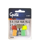 82-ANR-7 Standard ATO®/ATC® Blade Fuse Assortment, 7Pk, Grote #82-ANR-7