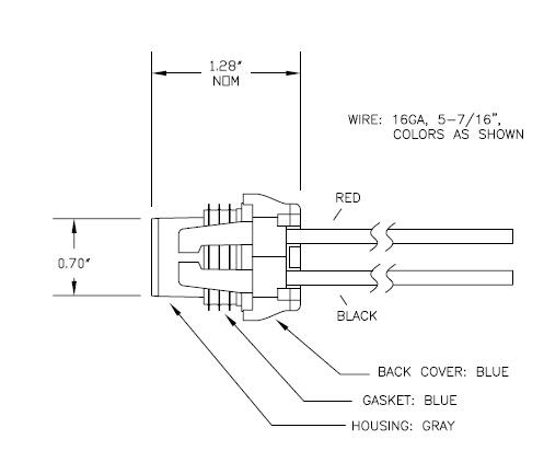 85909 Socket For H7 Halogen Lamps, 5-3/4