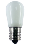 6S6/WHITE/130V MINIATURE BULB E12 BASE, 6S6/WHITE, 6S6 CERAMIC WHITE 13O VOLT CANDELABRA BASE