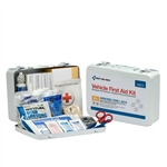 25 Person Vehicle First Aid Kit, Metal Weatherproof Case, ANSI Compliant, First Aid Only #90672, 25P Metal Vehicle ANSI A First Aid Kit, 114 piece First Aid Kit
