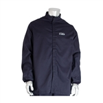 PIP® AR/FR Jacket - 12 Cal/cm2 Medium Size Navy FR Jacket, 9oz. Cotton NFPA 70E/ASTM F1506, Medium Size Navy 12 Cal FR Jacket, 9oz. Cotton NFPA 70E/ASTM F1506,PIP#9100-21782/M, Medium Size FR Jacket, 12 Cal Jacket