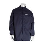 PIP® AR/FR Jacket - 12 Cal/cm2 Small Size Navy FR Jacket, 9oz. Cotton NFPA 70E/ASTM F1506, Small Size Navy 12 Cal FR Jacket, 9oz. Cotton NFPA 70E/ASTM F1506,PIP#9100-21782/S, Small Size FR Jacket, 12 Cal Jacket