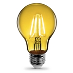 Feit Electric – A19/TY/LED A19 Clear Glass Yellow LED Bulb, Feit #A19/TY/LED, Feit Yellow LED A19, Yellow LED A19 Party Bulb