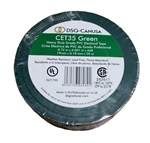 CET35 Green Electrical Tape, CET35 Green, Green PVC Electrical Tape, Green Tape, Green Electric Tape, DSG-CANUSA CET35 Green Electrician's Tape, Green Phase Tape #CET35 Green, Green Heavy Duty Grade PVC Electrical Tape