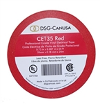 CET35 Red Electrical Tape, CET35 Red, Red PVC Electrical Tape, Red Tape, Red Electric Tape, DSG-CANUSA CET35 Red Electrician's Tape, Red Phase Tape #CET35 Red, Red Heavy Duty Grade PVC Electrical Tape