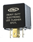 EF27L 12V 12A 5 Pin LED Flasher, EF27L Automotive Flasher, #EF27L, CEC #EF27L,EP27L Flasher, Napa #EP27L, Eaton Bussmann #727-LED  Flasher, EF27L LED Automotive Flasher, EF27L Electronic Flasher,EF27L Auto Flasher,EF27L LED Auto Flasher