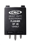 EF28 12V 8A 3 Pin Electronic Flasher, FSH6136 Flasher, #761 Flasher, #FLR761 Flasher, #EP28, #EFL5 Flasher, EF28 Automotive Flasher, EF28 Electronic Automotive Flasher, CEC EF28 Flasher