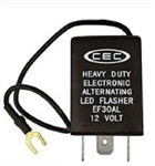 EF30AL 12V 15A 3 Pin Alternating LED Flasher, CEC EF30AL L.E.D. Electronic Flasher, Heavy Duty Alternating LED Electronic Flasher,CEC #EF30AL,EF30AL Led Flasher,FSHEF30A Flasher, Automotive Flasher #EF30AL, #EF30AL Auto Flasher