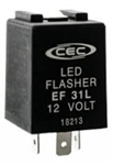 EF31L 12V 0.10-20A 3 Pin LED Electronic Flasher, FSHEF31L Flasher, 44890 Flasher, EL11L1 Flasher, EF31L Automotive Flasher, EF31L Auto Flasher, CEC #EF31L LED Automotive Flasher, EF31L Truck Flasher