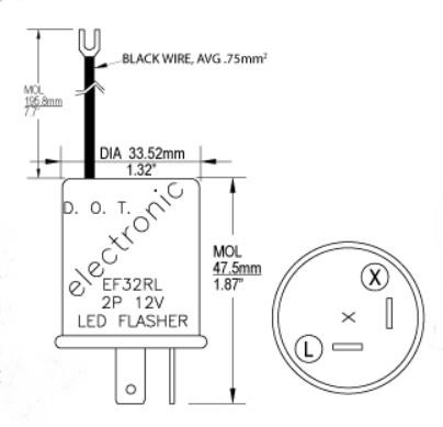 ef32rl 12v 0 10 20a 2 pin led electronic flasher cec ef32rl rh jacksonelectricsupply com