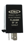 EF34 12V 12A 3 Pin Electronic Flasher, CEC# EF34 Fixed Load Electronic Flasher,#EF-34,EF34,#BP7058,Hazard Warning Flasher,Turn Signal Flasher, Electronic Flasher