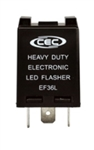 EF36L 12V 12A 3 Pin LED Flasher, 759-LED Flasher, EP36L Flasher, EF36L Automotive Flasher, EF36L LED Auto Flasher, EF36L Auto Flasher, LED & Incandescent Flasher #EF36L , CEC #EF36L Flasher