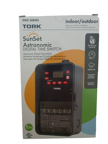 Tork Ewz101 Digital Time Switch 24 Hour7 Dayastronomic Tork