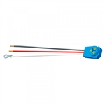 "Grote 67005 Pigtail, 11"" Long, 3 Wire 90 Degree Male Pin W/ 2 Blunt Cut, 1 Ring, Grote#67005"