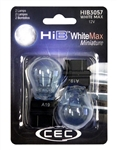 HIB3057WM White Max 2 Piece Blister Pack, CEC #HIB3057WM, #3057 WhiteMax Bulbs