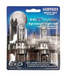 HIB9003 BRIGHT MAX 2 Piece Blister Pack, T4 5/8 12V 60/55W 5/4.6A P43t HIB BrightMax 2-Pack, HIB9003 Bright Max Halogen Bulb, HIB9003 Bright Max Automotive Bulbs
