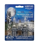 HIB9145 (H10) BrightMax 2 Piece Blister Pack, T4 12V 45W (H10) HIB BrightMax 2-Pack, #9145 Bright Max Bulbs, CEC #9145 BrightMax Headlight Bulbs