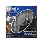 HIB9145 (H10) WhiteMax 2 Piece Blister Pack, T4 12V 45W (H10) HIB WhiteMax 2-Pack, #9145 White Max Bulbs, CEC #9145 WhiteMax Headlight Bulbs