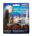 HIBH1 H1 55W BrightMax 2-Pack, BrightMax H1 12V 55W P14.5S,BrightMax Automotive Halogen, HIBH1BM Automotive Halogen Bulbs, CEC HIBH1 Bright Max 55W 12 Volt H1 P14.5s Base