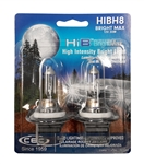 HIBH8 BRIGHT MAX 2 Piece Blister Pack, HIBH8 BrightMax, T4 12V 35W 2.9A PGJ19-1 HIB BrightMax 2-Pack, CEC 35W 12V Bright Max Automotive Halogen