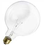"150G40/CL/130V/2M 150 Watt G40 5"" Clear Globe E26 Base, 150G40CL, 150G40, G40CL150, 150 Watt G40 Clear Medium Base 130 Volt"