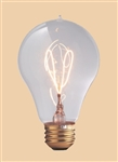 40A23/E26/1893 120V 40 Watt 1893 Carbon Filament A23, Carbon Filament Bulbs, Carbon Filament Lamps, 1893 Style Light Bulbs, Antique Style Light Bulbs, Carbon Filament Victorian Bulbs