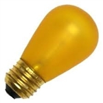 11S14/E26/TOPAZ/130V TOPAZ YELLOW DEEP COLOR, TOPAZ YELLOW 11S14, TOPAZ YELLOW S14 LIGHT BULB, YELLOW BULBS, TOPAZ LIGHT BULBS,#L1847 BULB,ADL #1847