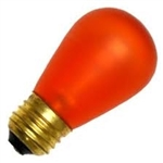 11S14/E26AMBER/130V AMBER DEEP COLOR,AMBER S-14 LIGHT BULBS, AMBER S14 LIGHT BULB, AMBER BULBS, AMBER LIGHT BULBS, ADL #L1849