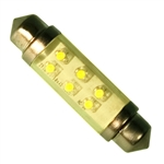 LE-0603-02Y 12V Yellow LED Festoon Lamp, JKL #LE-0603-02Y, LE-0603-02Y