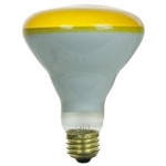 65BR30FL/YELLOW/130V/5M 65 Watt BR30 Yellow Flood E26 Base, BR30, BR30FL-Yellow, Yellow BR30 Flood, 65 Watt BR30 Yellow Flood Medium Base 130 Volt