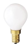 40G14/W/E14/130V 40 WATT G14 WHITE EUROPEAN BASE BULB, 40G14 WHITE E14 BASE, 40 WATT G14 E-14 BASE BULB, EUROPEAN BULBS, EUROPEAN LAMP, E-14 BULBS, EUROPEAN GLOBE BULBS,