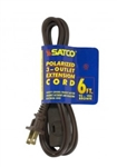 Satco 93-193, 93-193 Extension Cord, Brown 6' Extension cord Satco #93-193