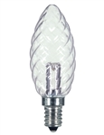 Satco S9155 - 1W CTD/LED/CRYSTAL/120V/CD, S9155, Satco #S9155, LED Crystal Chandelier Bulb #S9155,Satco LED S9155, Satco LED Chandelier Bulb #S9155