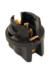 T-20 T1-3/4 Long Wedge Twist Lock Socket Black, CEC #T-20, CEC #T-20 Socket, T1-3/4 Long Wedge Twist Lock Socket, W2.1x4.9d Base Bulb Socket, Automotive Socket, Auto Bulb Socket