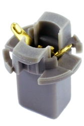 T-21 T1-3/4 Long Wedge Twist Lock Socket Grey, CEC #T-21, CEC #T-21 Socket, T1-3/4 Long Wedge Twist Lock Socket, W2.1x4.9d Base Bulb Socket, Automotive Socket, Auto Bulb Socket