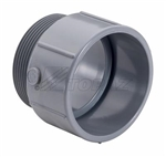 "Topaz – 1037 2-1/2"" PVC Conduit Terminal Adapter, Topaz #1037, Topaz 1037, 2-1/2"" Male Terminal Adapter Topaz #1037"