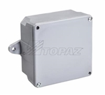 Topaz - 1221 4x4x2 PVC Junction Box, Topaz #1221, Topaz-1221, Topaz 1221, 4x4x2 NEMA 3R Schedule 40 PVC Junction Box