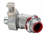"Topaz – 230SGR - 3/8"" 45° Liquidtight Connectors With Grounding Lug, Topaz #230SGR, Topaz 230SGR, 3/8"" Liquid Tight Connector With Grounding Lug, Liquidtight 45° Grounding Angle Connector"