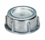 "Topaz - 304CB 1-1/4"" Rigid Zinc Conduit Bushing with Steel Cap, Topaz #304CB, Topaz 304CB, Topaz 304CB Rigid Capped Conduit Bushing, Die Cast Zinc, 1-1/4"" Female Threaded"