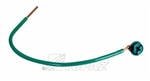 "Topaz - 49 7-1/2"" #12GA Pigtail Green Color, Topaz #49, Topaz 49, Green Pigtail With Slotted Hex Ground Screw Topaz #49"