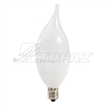 Topaz – 70728 LCFF/5/830/F/D-62 Dimmable Flame Tip LED,Topaz LCFF/5/830/F/D-62, Topaz #70728, 4.7 Watt Dimmable LED CFF Chandelier Bulb E12 Base, Topaz 70728, LED Chandelier Bulb